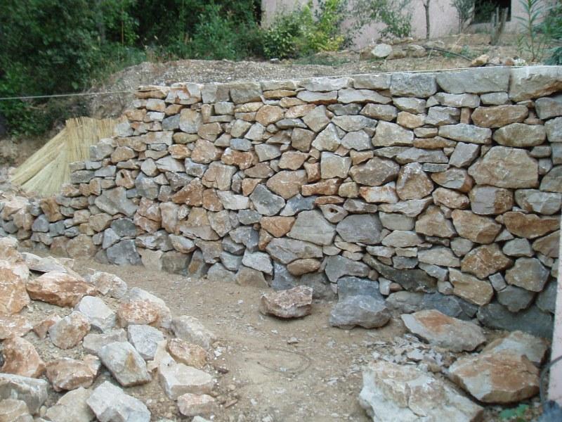Mur de sout nement montpellier nord pierre - Mur soutenement pierre ...